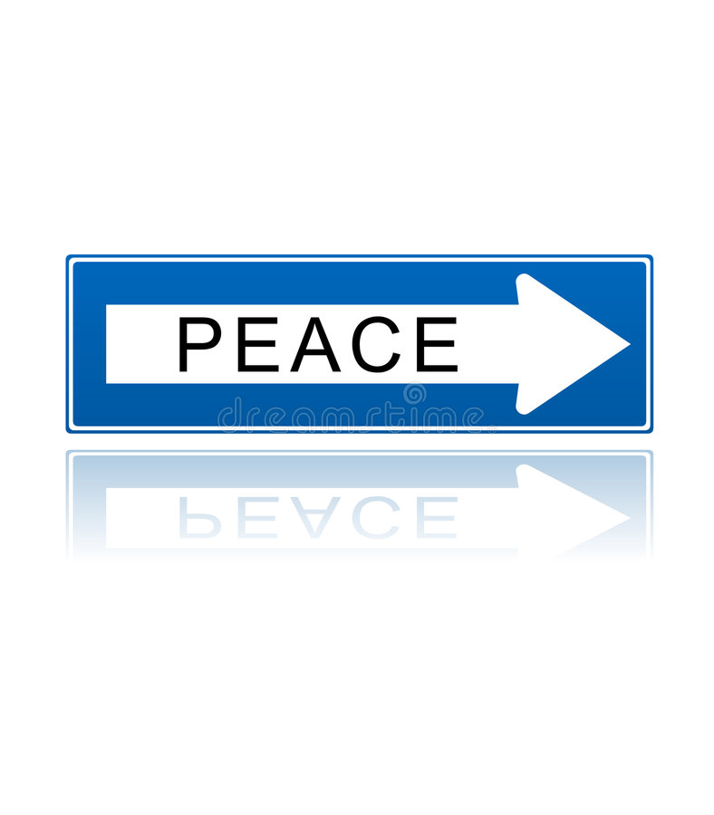 Peace One Way Symbol Stock Vector Illustration Of Vectored 7858820