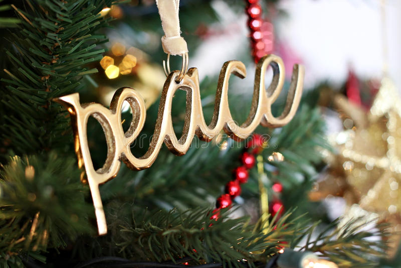 Download Peace Ornament stock image. Image of golden, symbol, holiday - 17242185