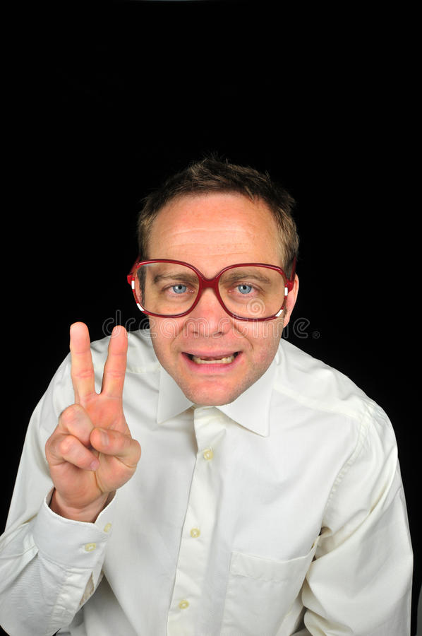 Download Peace Out stock image. Image of intellectual, goof, looking - 25129407