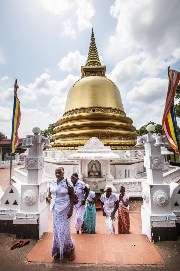 Peace Pagoda Stupa. Dambulla cave temple. Golden Temple. Sri Lanka. Dambulla cave temple also known as the Golden Temple of Dambulla is a World Heritage Site ( royalty free stock photography