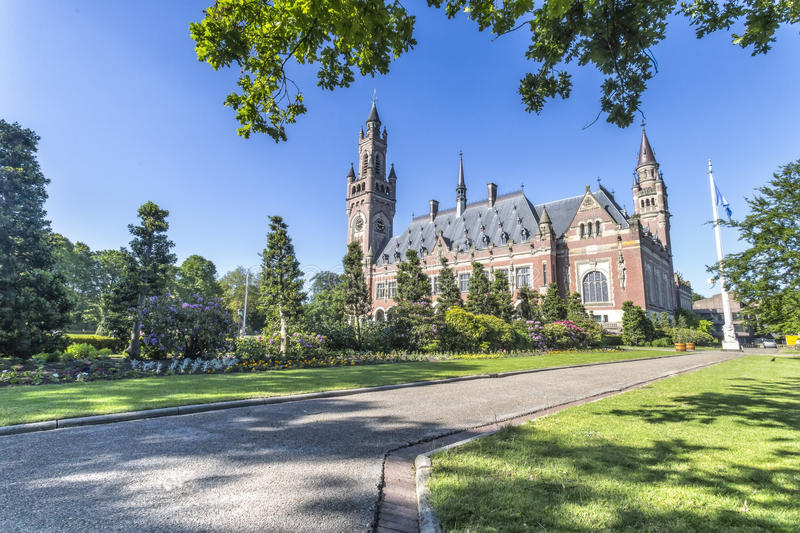 The Peace Palace garden royalty free stock images