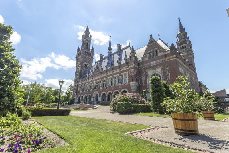 The Peace Palace garden royalty free stock photos