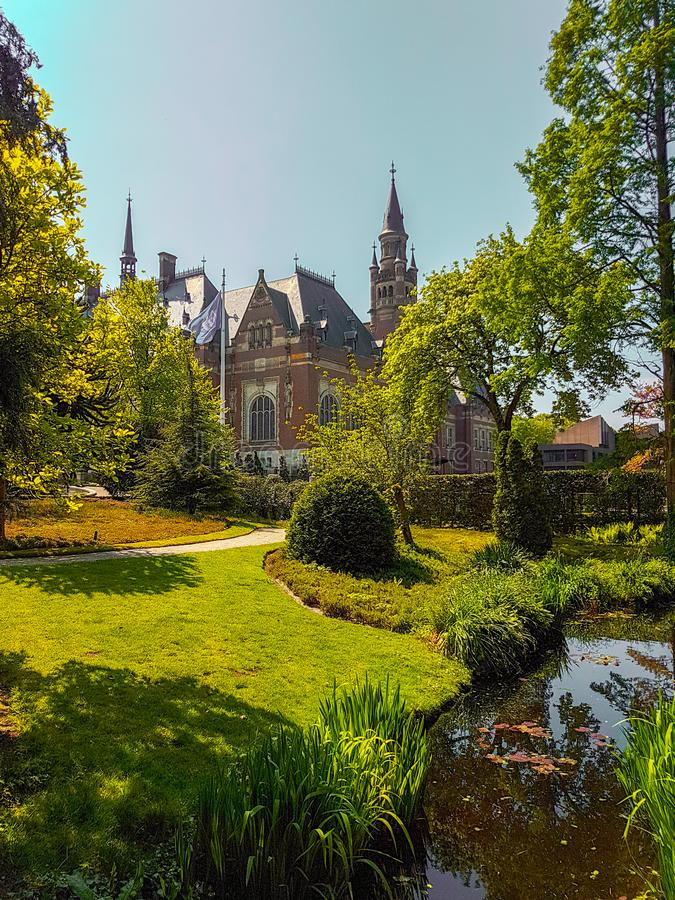 Peace palace the Hague royalty free stock image