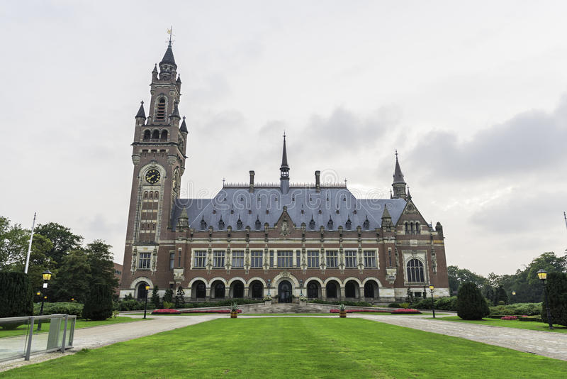Peace Palace in The Hague royalty free stock images