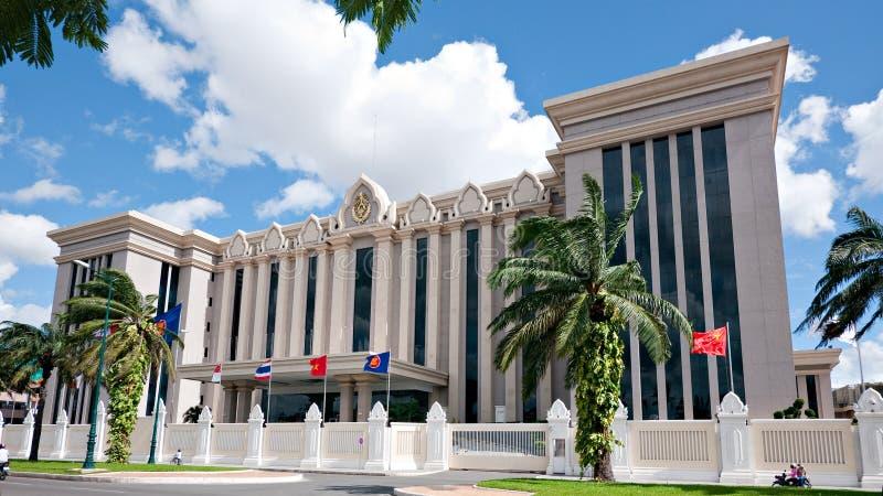 The Peace Palace in Phnom Penh, Cambodia stock photography