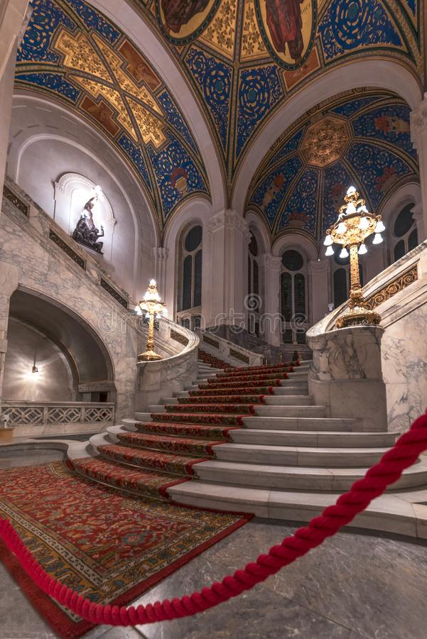 Peace Palace staircase stock image