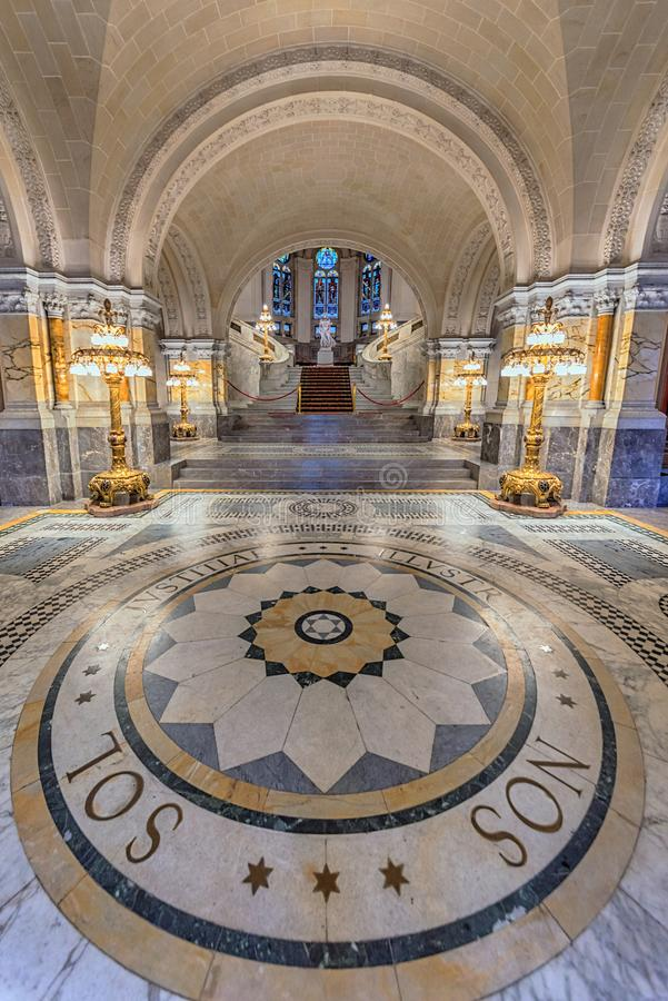 Peace Palace staircase royalty free stock photography