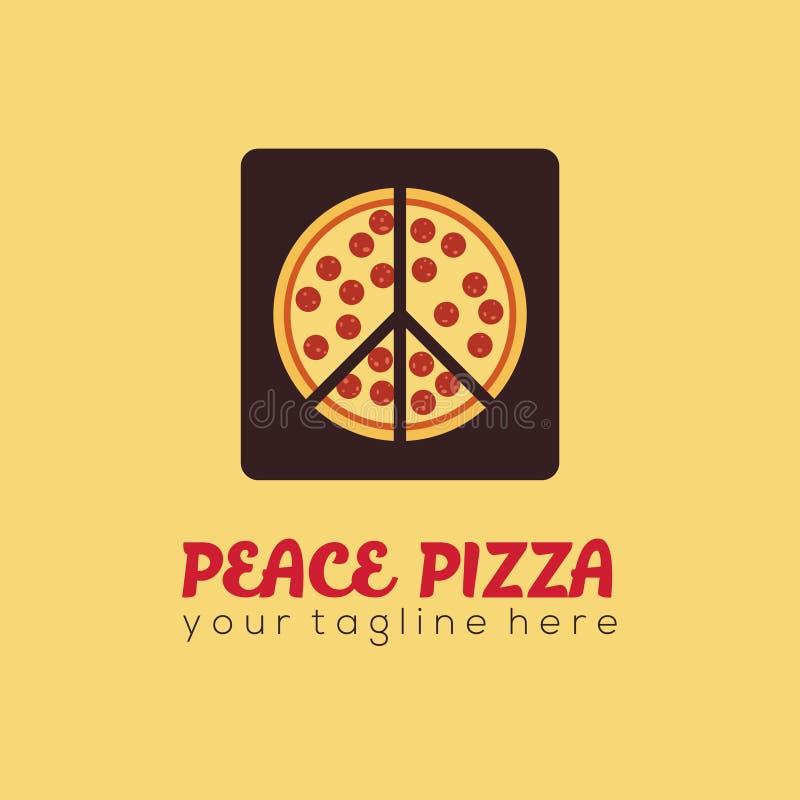 Peace Pizza Logo royalty free stock photography