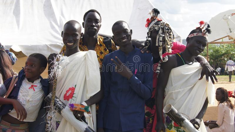 A peace-promoting festival is attended by thousands of people in Juba. As South Sudan peace talks take place in Addis Abeba, a peace-promoting festival (Hagana) stock images