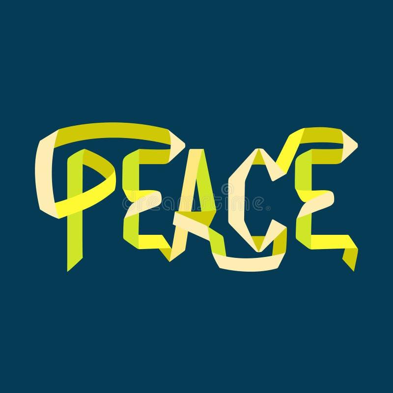 Peace ribbon word royalty free illustration