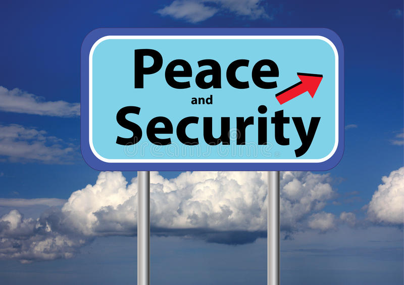 Download Peace and security and sky stock illustration. Illustration of text - 22716197