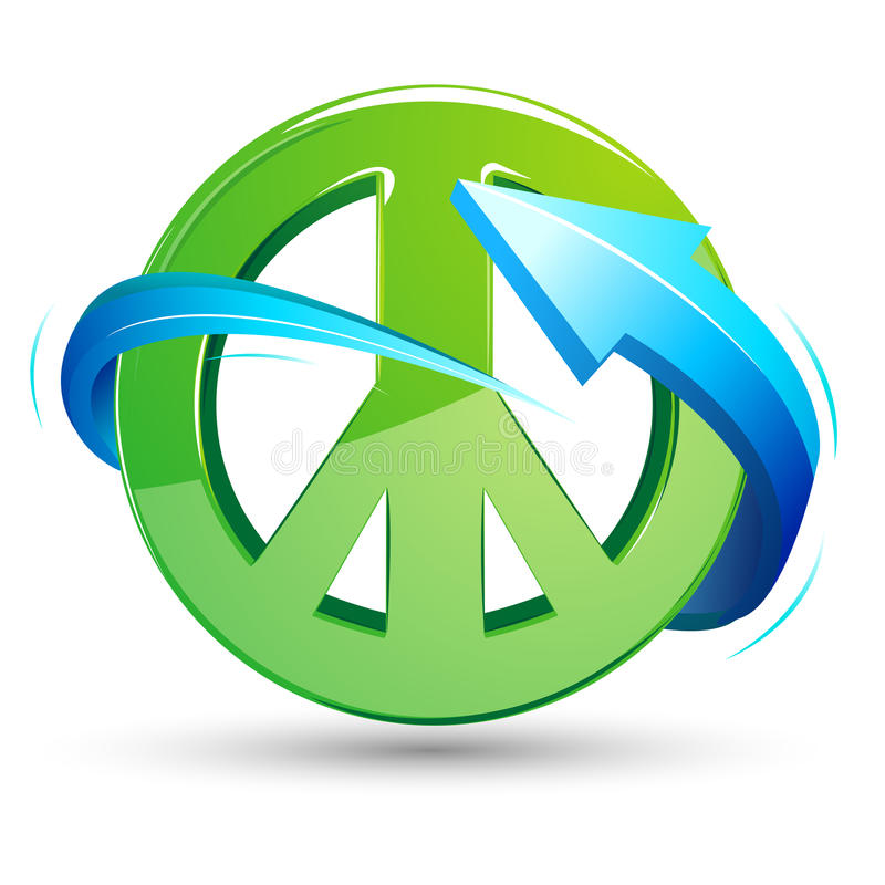 Peace Sign with Arrow royalty free illustration