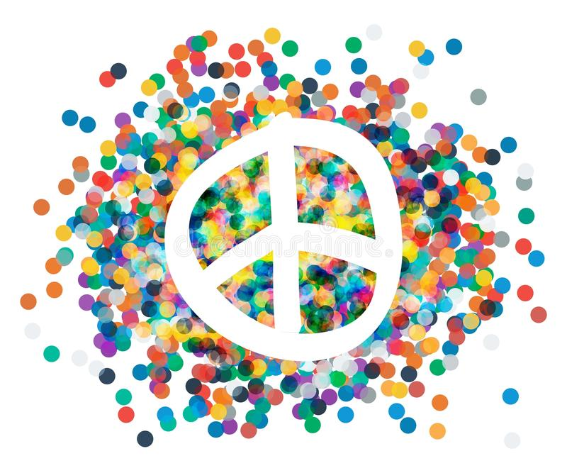 Peace Sign Beautiful Symbol Of Peace Stock Vector Illustration Of