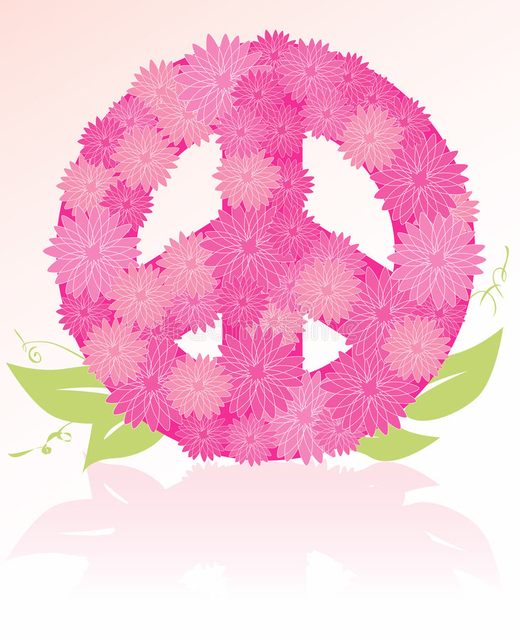 Download Peace Sign Flower Bouquet Royalty Free Stock Image - Image: 4478476