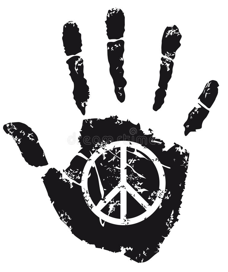 Peace Sign Stock Vector Illustration Of Campaign Hand 43894901