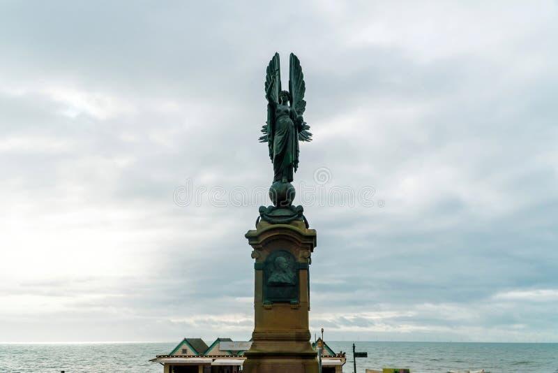 Peace Statue, also a memorial to Edward VII in Brighton and Hove, United Kingdom. Brighton and Hove, Sussex, UK - January 2019: Peace Statue in Brighton and Hove stock photo