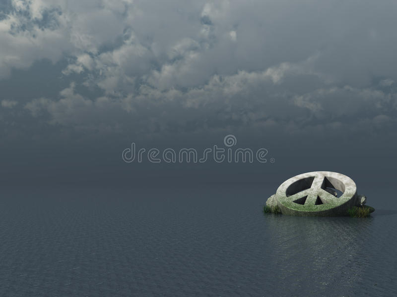 Download Peace symbol stock illustration. Image of protest, clouds - 19061277