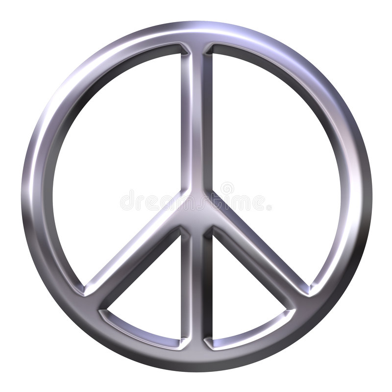 Download Peace Symbol stock illustration. Image of reflection, bevel - 3301658