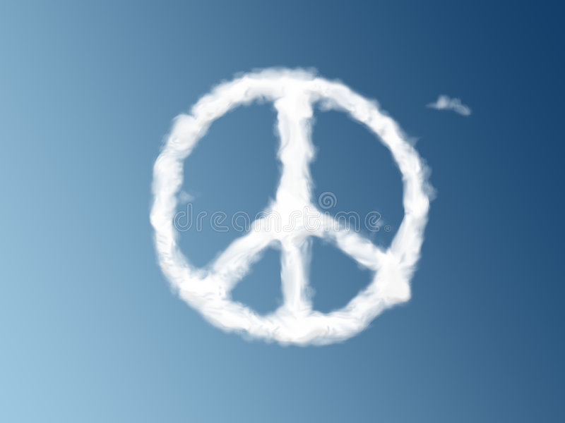 Download Peace symbol as a cloud stock illustration. Illustration of peace - 8600790