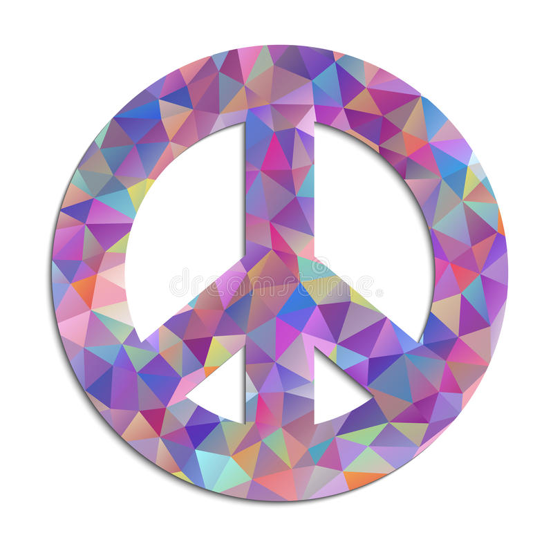Download Peace Symbol On White Background Stock Vector - Image: 33639375