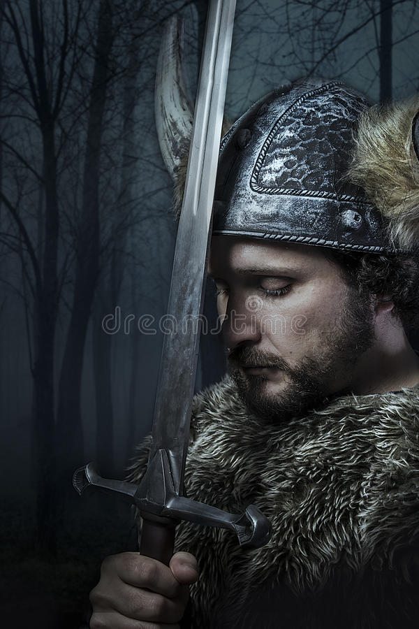 Peace, Viking warrior stock image