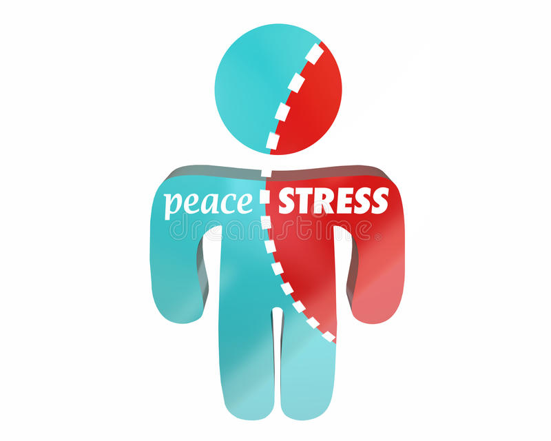 Peace Vs Stress Person Torn royalty free illustration
