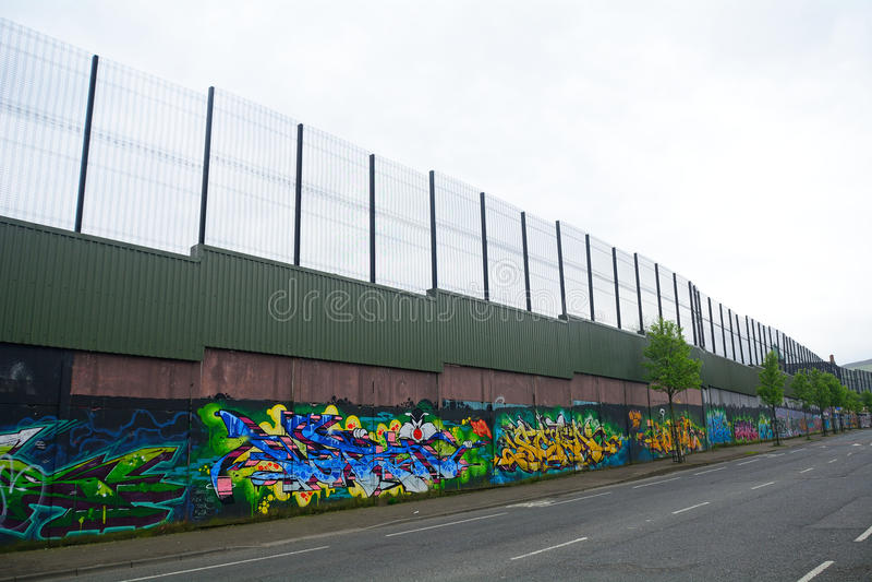 Peace wall, Belfast, Northern Ireland royalty free stock photo