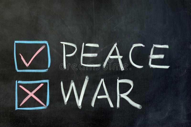Download Peace or war stock image. Image of letter, blackboard - 27535195