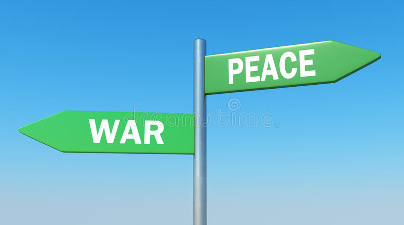 Peace or war royalty free illustration