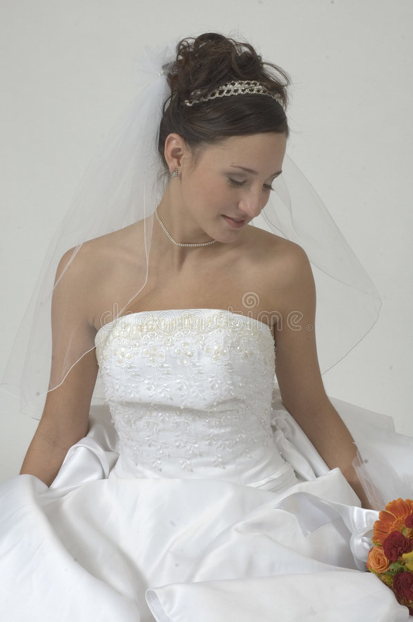 Peaceful Bride royalty free stock image