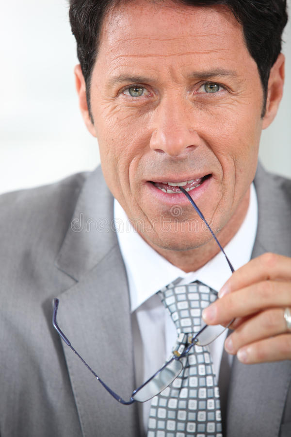 Peaceful Businessman Royalty Free Stock Images