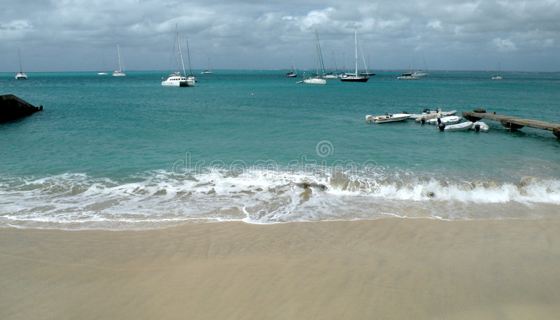 Download Peaceful Caribbean harbor stock image. Image of french - 8290365