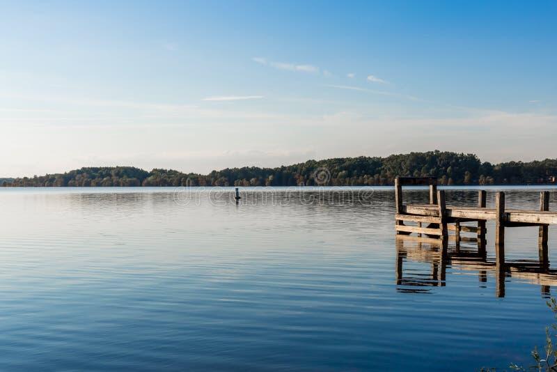 A peaceful day at a Missouri Lake stock photo