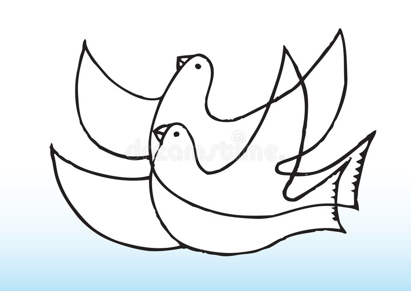 Download Peaceful doves stock illustration. Image of rendering - 9198936