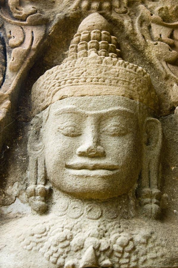 Download Peaceful Dvarapala, Preah Khan Temple, Cambodia Stock Photo - Image of sculpture, siem: 24778378