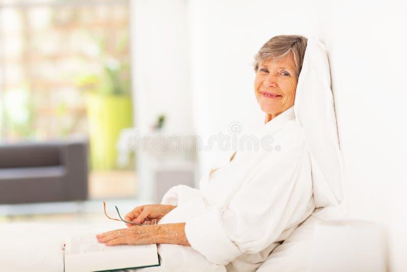 Download Peaceful elderly woman stock photo. Image of elegant - 28926168