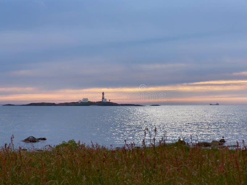 Peaceful evening stock photo