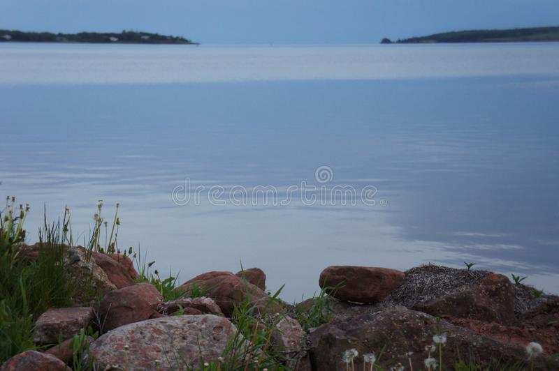 A peaceful evening on Charlottetown harbour stock images