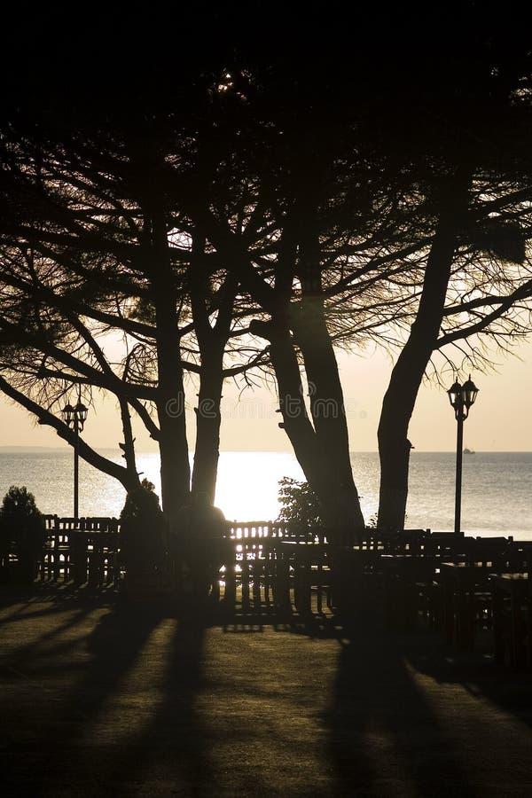 Peaceful Garden By The Coast Royalty Free Stock Photos