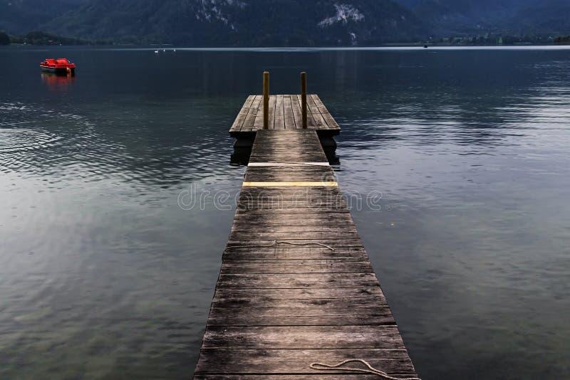 Peaceful Mountain Lake stock image