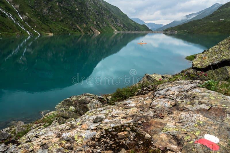 Peaceful Mountain Lake royalty free stock photo