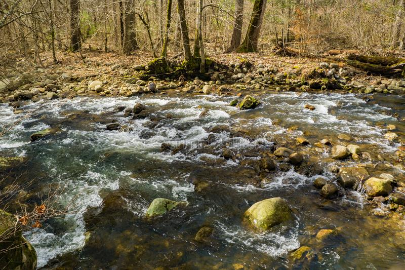 Peaceful Mountain Trout Stream in the Blue Ridge Mountains. A wild mountain trout stream located in the Blue Ridge Mountains of Botetourt County, Virginia, USAn royalty free stock images