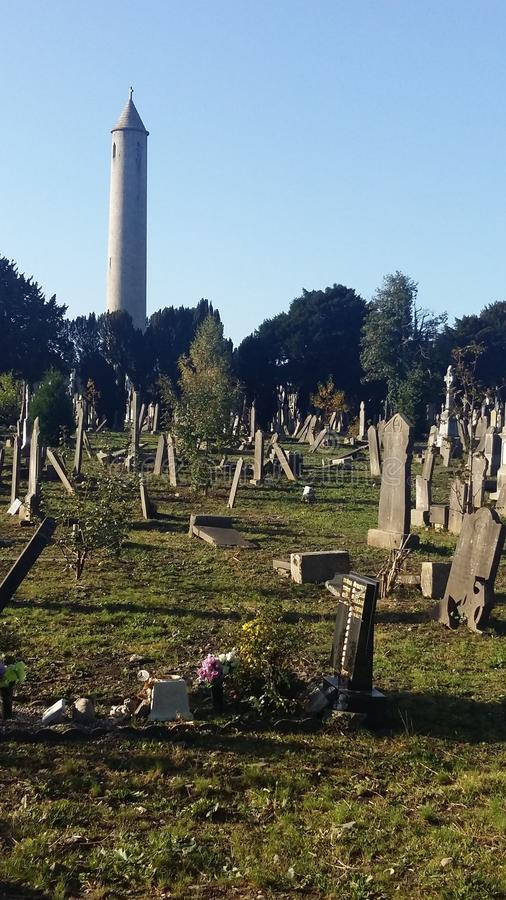 Glasnevin Cemetary - Dublin - R.I.P. A peaceful place showing that even in the death there is something of beautiful. People who made important things for their royalty free stock photos