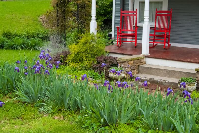 Peaceful Porch in the Country stock images