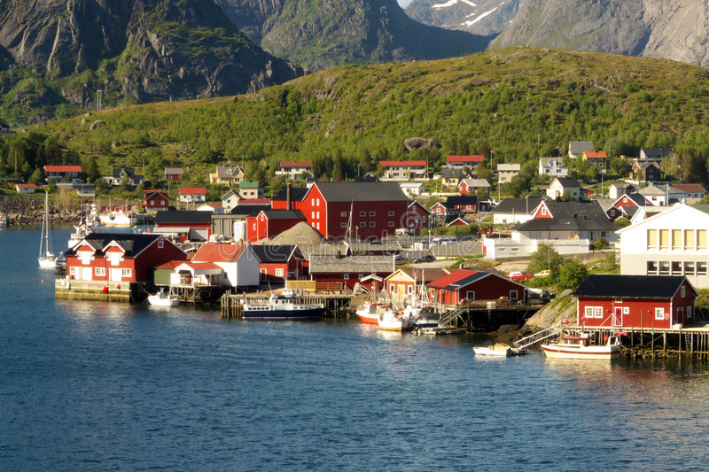 The peaceful Reine in Lofoten royalty free stock photos