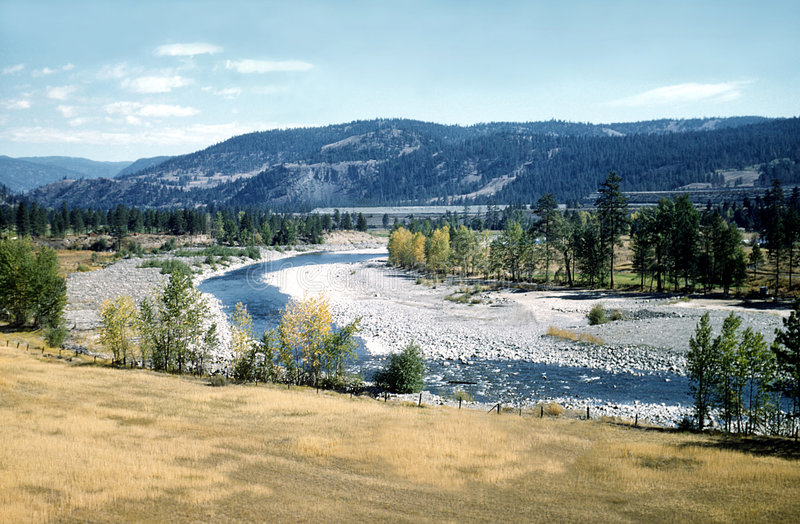 Peaceful River Valley British Columbia Canada stock photo