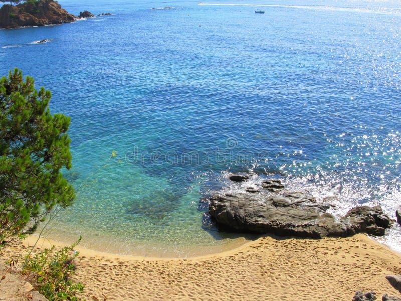 Peaceful seashore(Costa Brava) royalty free stock images
