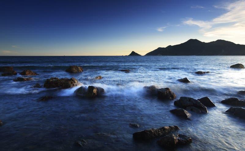 Peaceful seaside view stock photo