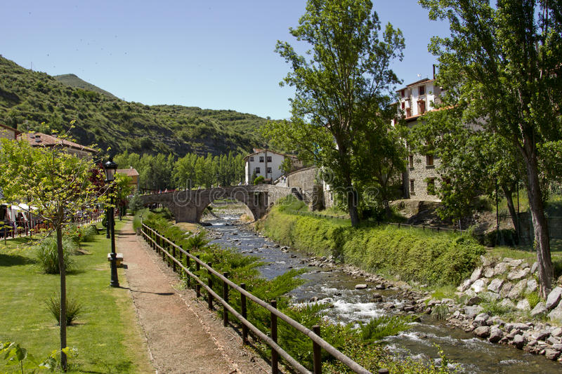 Download Peaceful site stock image. Image of view, river, rioja - 33079989