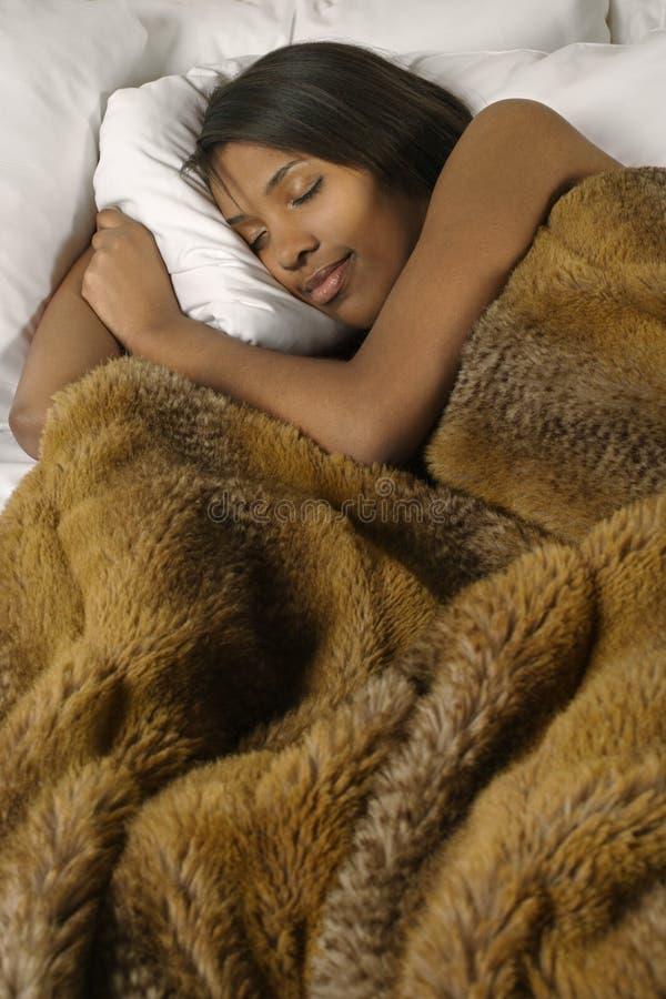 Peaceful sleep stock image